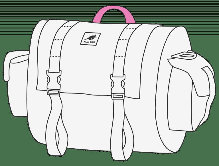 Super cute portage handle for off the bike transportation